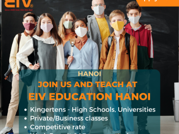 EIV Eucation Hanoi – Looking For Full-Time and Part-Time Teachers