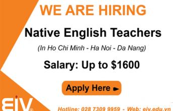 We are hiring native English Teachers in Ho Chi Minh – Ha Noi – Da Nang